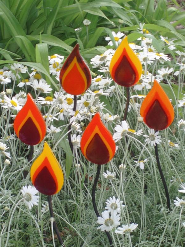 Red Hot Pokers-Garden Ornament
